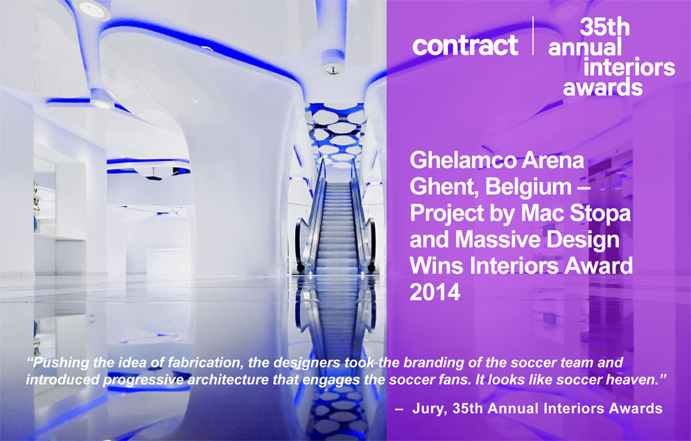 Ghelamco Arena wins Interiors Award 2014